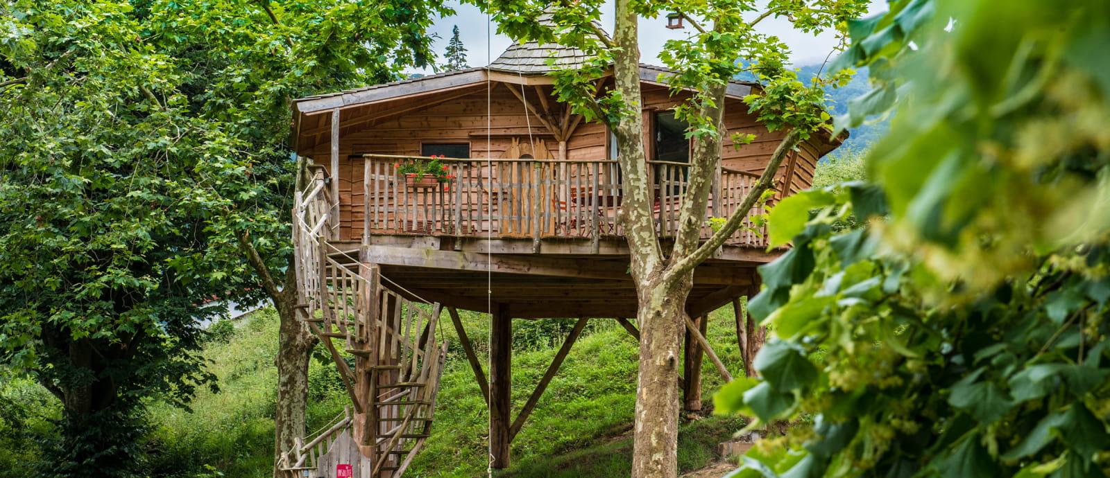 cabane en bois dans les arbres - hotel andreinia - esterencuby
