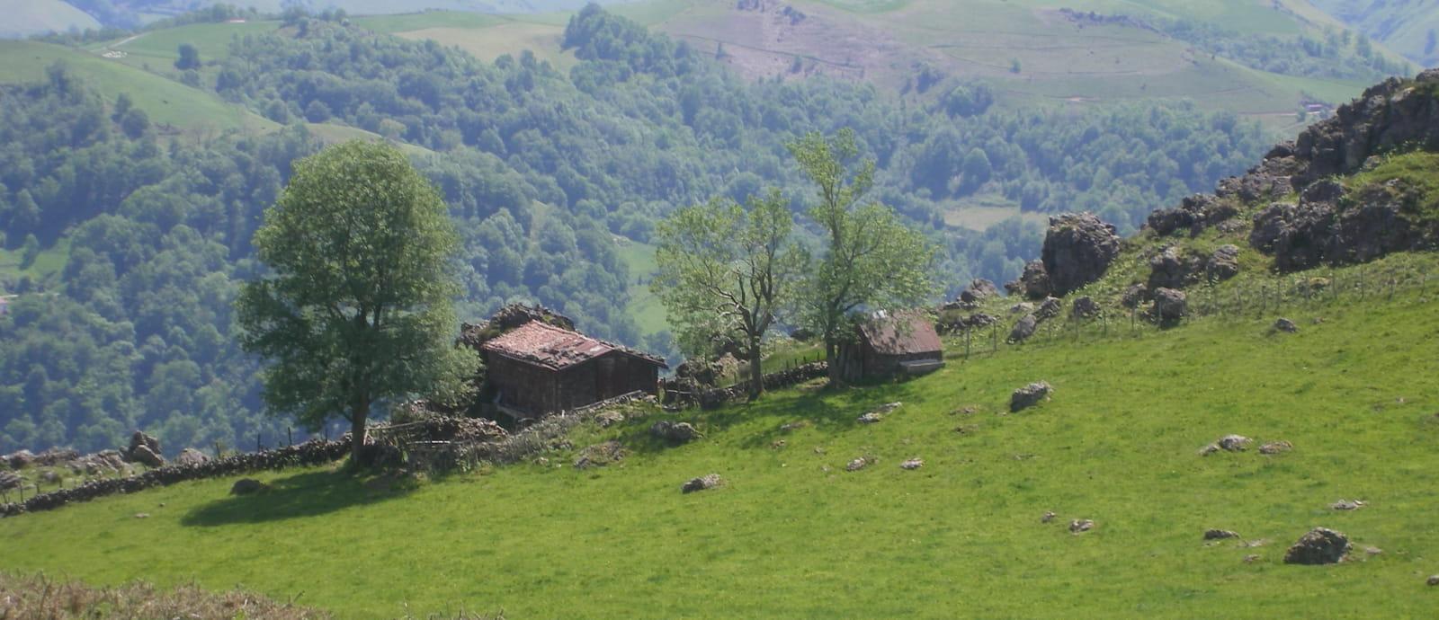 cayolar (maison de bergers) dans les montagnes au dessus d esterencuby - pays basque