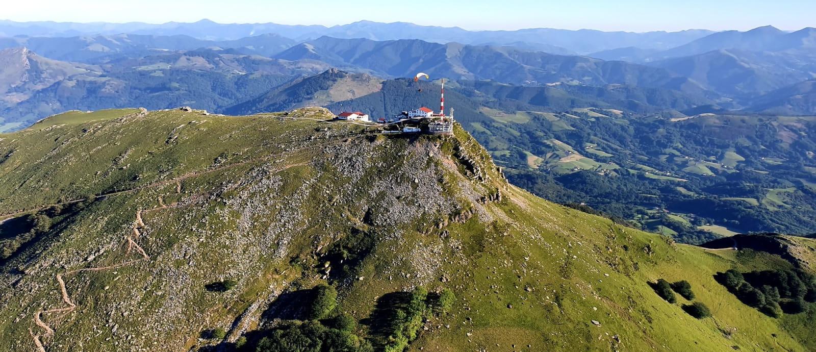 Sommet de la Rhune à 904m d'altitude