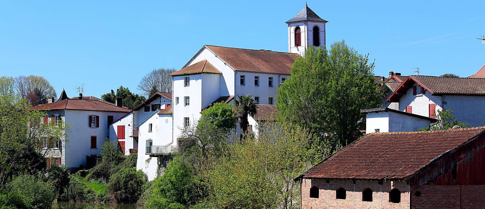 saint palais, en bord de la Bidouze au Pays Basque