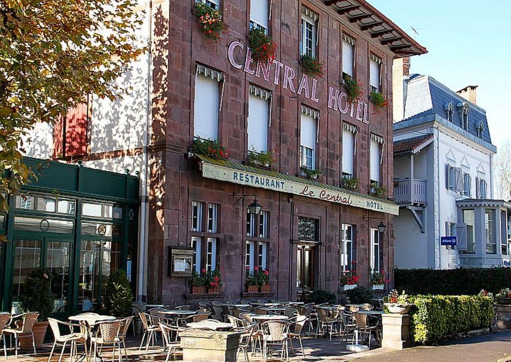 Hôtel Central - façade - Saint Jean Pied de Port