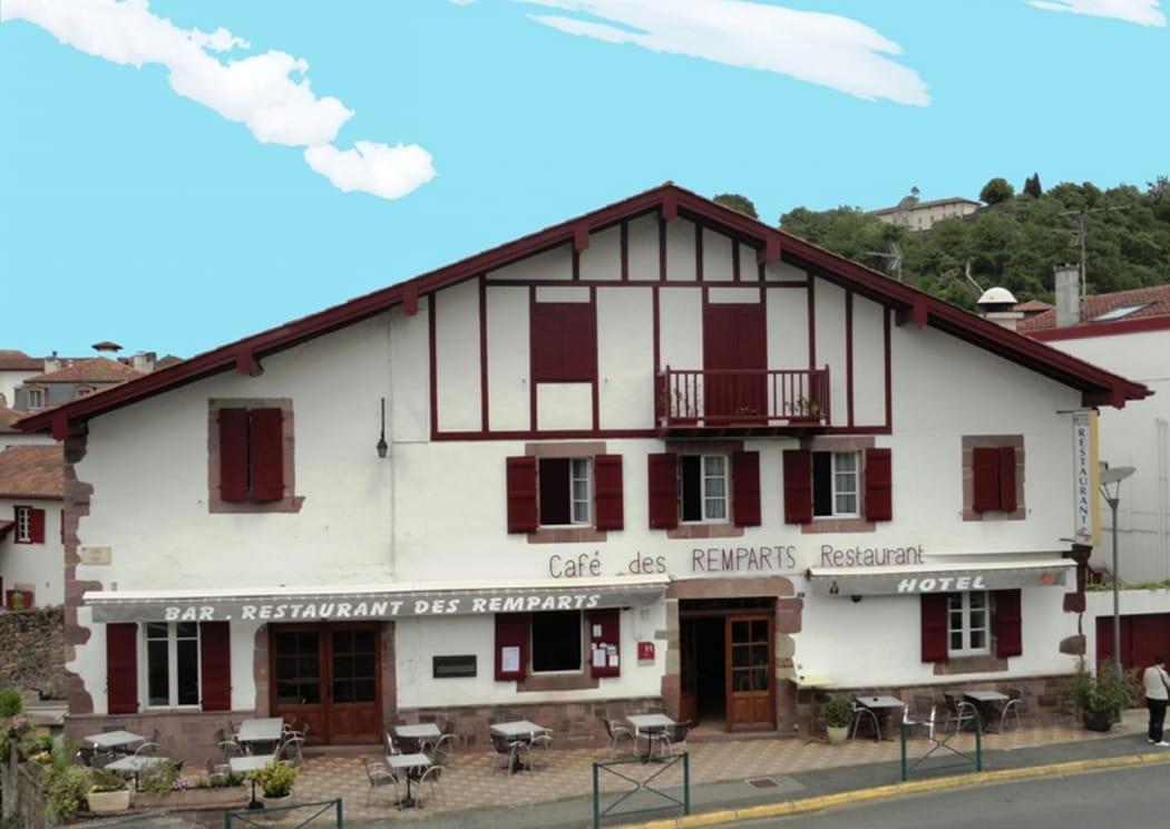 Hôtel Les Remparts - façade - Saint Jean Pied de Port